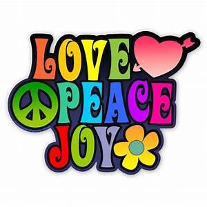 Love And Peace : cs248 love peace joy color sticker ~ A.2002-acura-tl-radio.info Haus und Dekorationen