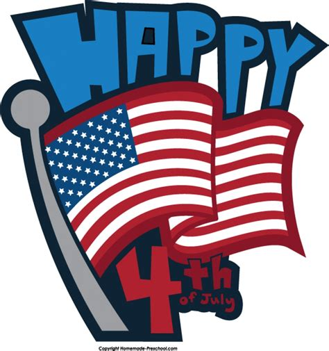 July 4th Clip July Fourth Clipart Clipground