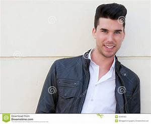 Portrait Of A Handsome Young Man Smiling Stock Photos ...