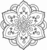 Coloring Adult Pages Printable Flowers Serendipity sketch template