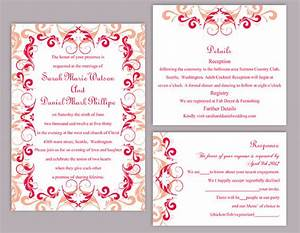 red wedding invitation templates wblqualcom With free printable red and black wedding invitations