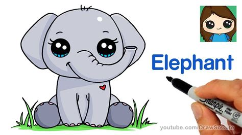 draw  elephant easy youtube