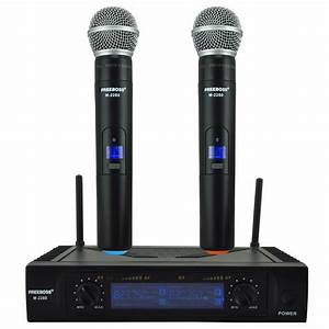 Freeboss M 2280 Uhf Wireless Microphone With Screen 50m