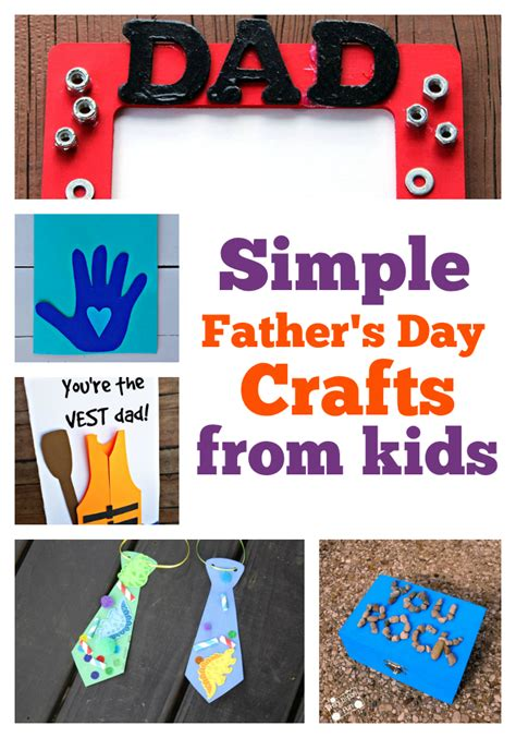 simple s day crafts from boogie wipes 588 | Simple Fathers Day Crafts from Kids