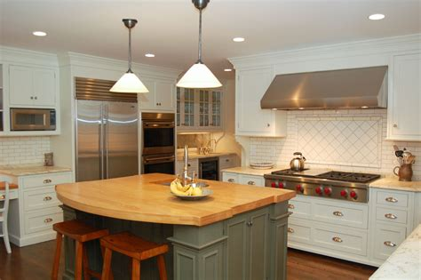 White Kitchen Island With Butcher Block Top Akomunncom