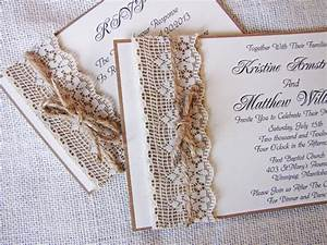 rustic lace wedding invitations so romantic ipunya With wedding invitations handmade by me