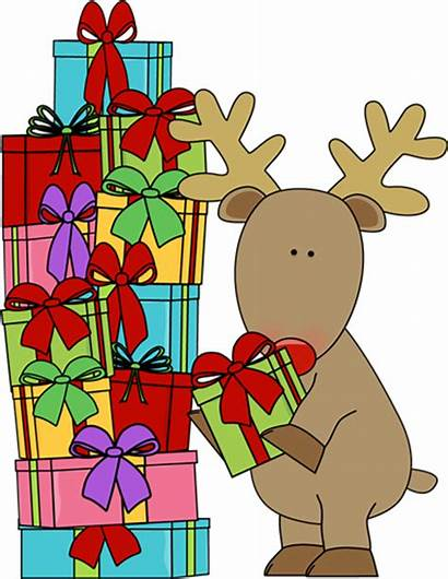Christmas Clipart Reindeer Clip Presents Present Gifts
