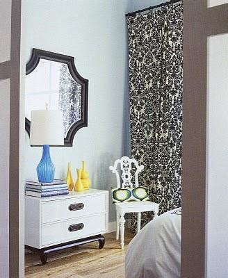 ivory  black curtains contemporary bedroom