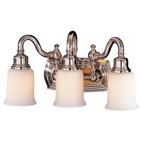 Polished Nickel Bathroom Lighting Fixtures by Vs8003 Pn 3 Light Vanity Fixture Polished Nickel