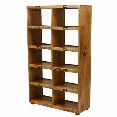 Open Bookcase Wall Unit Display Wood Solid