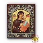Theotokos Icon Antique Frame Nioras Orthodox