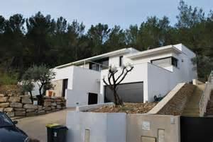 plan de maison individuelle sur terrain en pente maison moderne