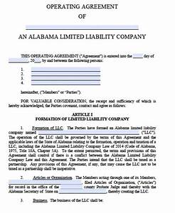 free alabama llc operating agreement template pdf word With operation agreement llc template