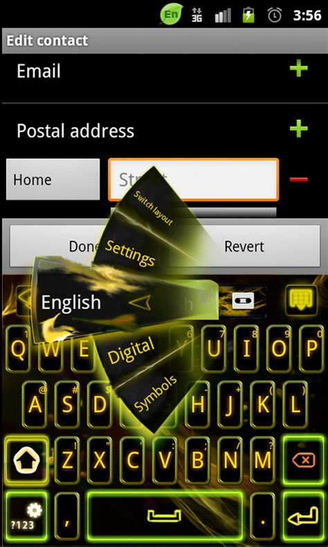 android keyboard themes go keyboard yellow theme free app android