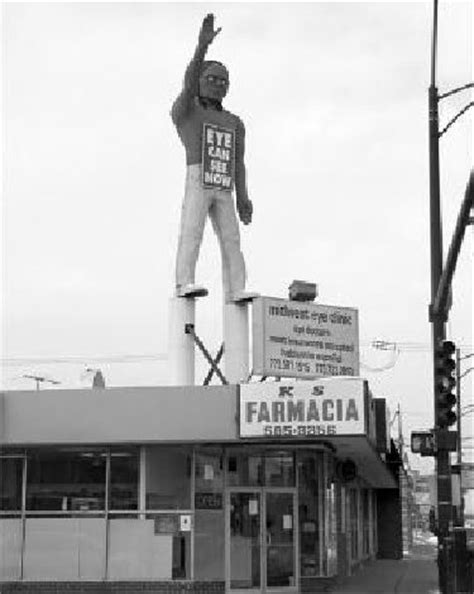 PULASKI STREET'S GIANT INDIAN {South side of Chicago} On