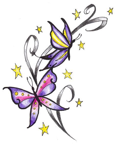 butterflies  stars tattoo  expedient demise  deviantart