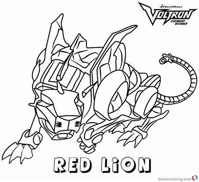 Voltron Coloring Lion Pages Printable Force Adults