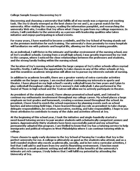 writing a good college application essay good examples of college essays