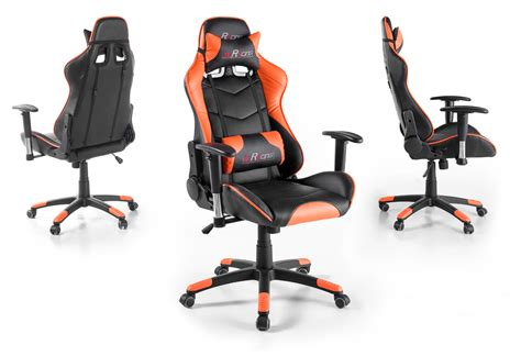 mc racing gaming stuhl b 252 rostuhl mc racing schwarz und orange gaming stuhl