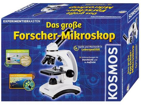 kosmos experimentierkasten das grosse forscher mikroskop