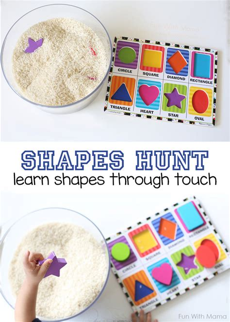 preschool shapes activity hunt 331 | shapes hunt pin