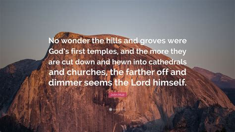 """John Muir Quote """"no Wonder The Hills And Groves Were God"""