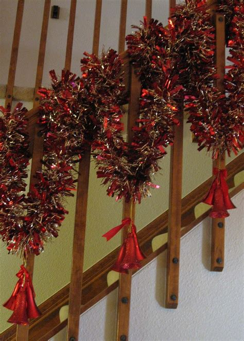 banister decorations christmas  pinterest