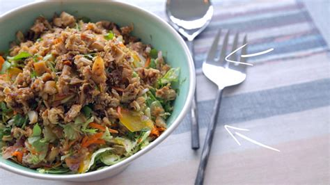 cuisine choux de bruxelles salade de choux de bruxelles au poulet croustillant