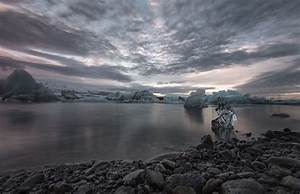 Nature, Photography, Landscape, Sunset, Ice, Clouds, Sky, Sea, Cold, Winter, Dark, Iceland