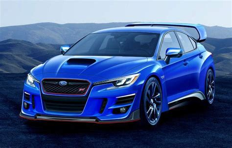 subaru wrx sti rumors concept car announcements