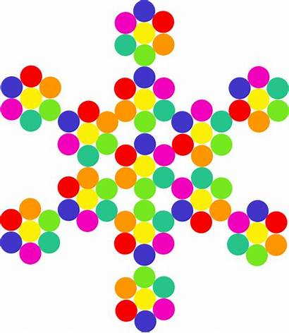 Snowflake Clipart Colorful Clip Computer Cliparts Clker