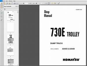 Komatsu 730e Trolley Dump Truck Service Repair Manual  Sn  A30403  U0026 A30406