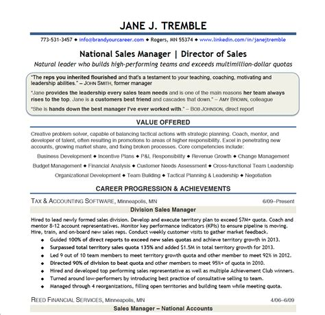 Director Of Nursing Resume Sles by Sles Director Of Sales 171 Brand Your Career