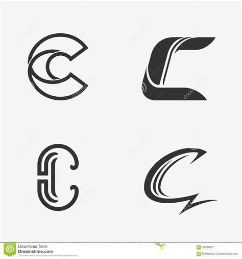 decorator pattern c the set of letter c sign logo icon design template