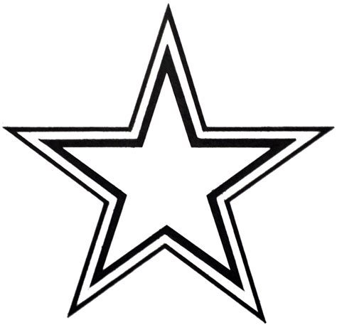 double outline star clipart