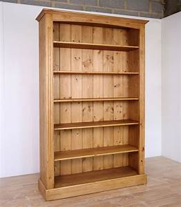 Solid Pine Tall Open Bookcase In 5 Widths Furniture4YourHome
