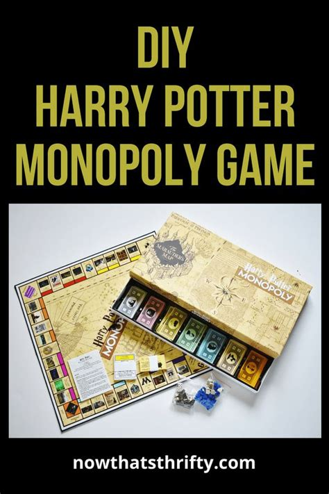 diy harry potter monopoly game   printables
