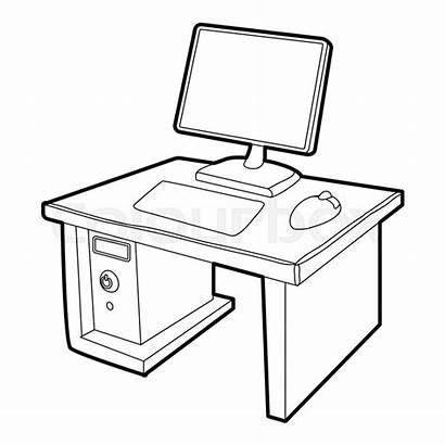 Computer Icon Desktop Isometric Symbol Monitor Skrivbord