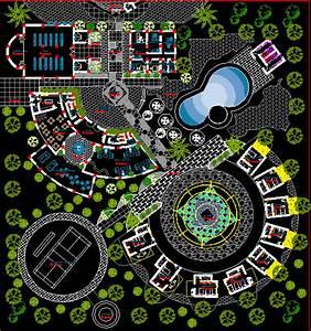 Private Resort 2D DWG Design Block for AutoCAD • Designs CAD