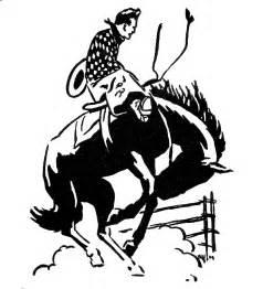 vintage clip rodeo cowboy the graphics