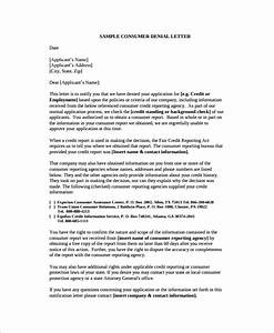 sample denial letter 8 free documents download in word pdf With loan denial letter template