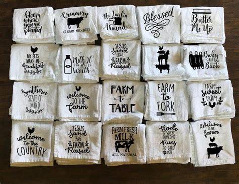 farm kitchen towel flour sack towel  bread