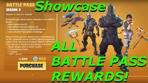 battle pass rewards fortnite battle royale season