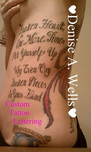 lyrics lettering tattoo design  denise  wells