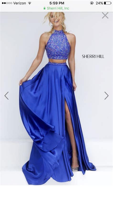 Sherri hill royal blue two piece prom dress | Piece prom ...