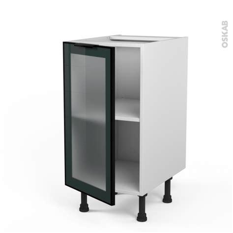 meuble cuisine vitré meuble de cuisine bas vitré façade alu 1 porte l40 x