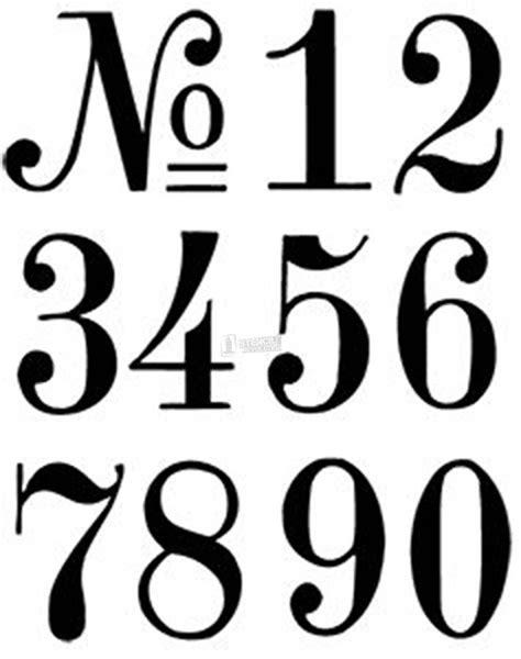 Number Stencils  Crafts  Pinterest  Printable Stencils