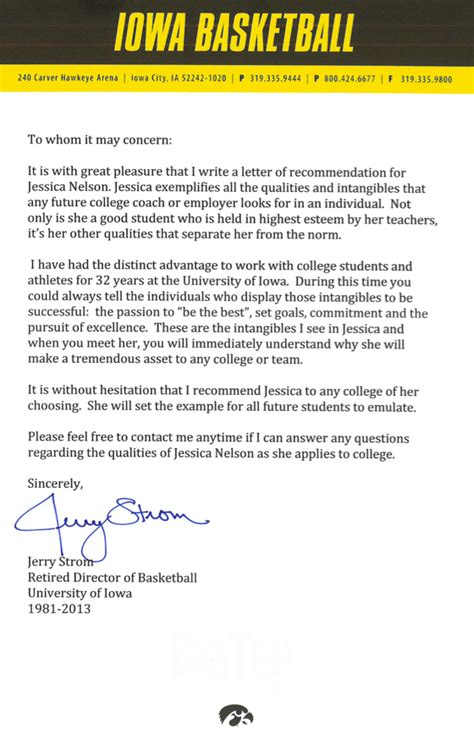 college letter  recommendation