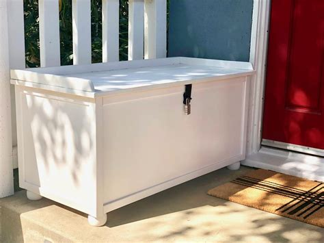 diy  porch packages lock box bench buildsomethingcom