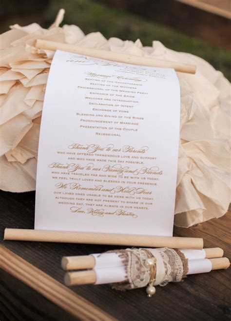 fabulous guide to wedding programs medieval wedding